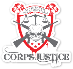Corps Justice Color Logo Die Cut Decal Sticker