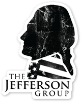 The Jefferson Group Black and White Die Cut Decal Sticker